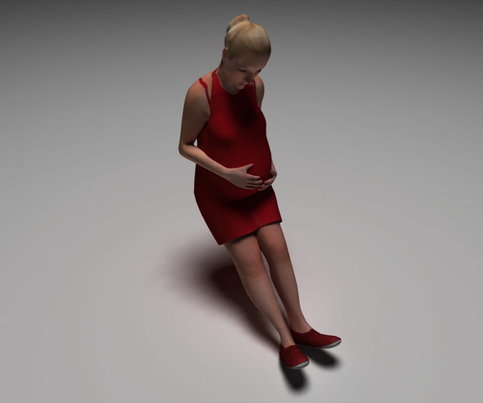 3d model pregnant women