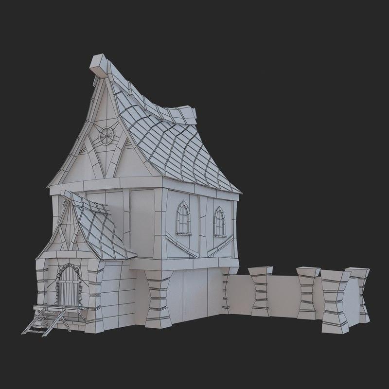 fantasy home 3d max