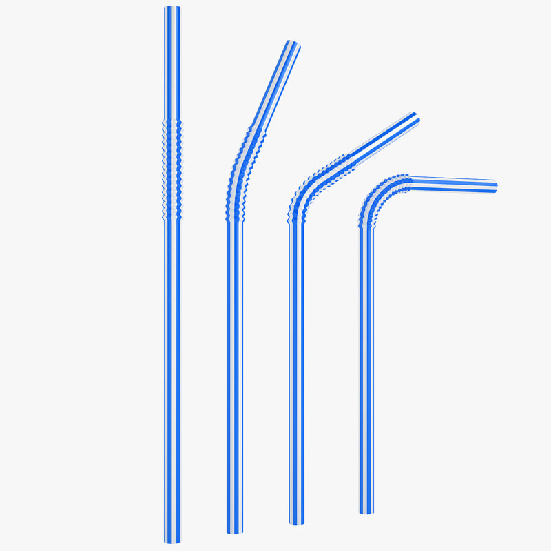 3d model plastic drink straw
