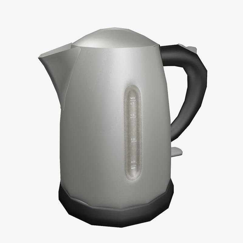 3d electric kettle model