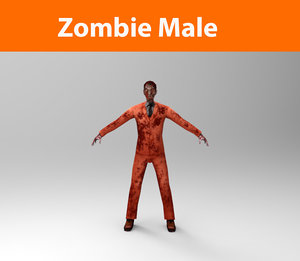 zombie male character 3d 3ds
