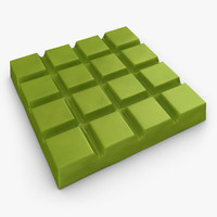 realistic chocolate bar matcha 3d fbx