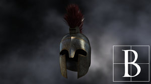 3d spartan helmet model
