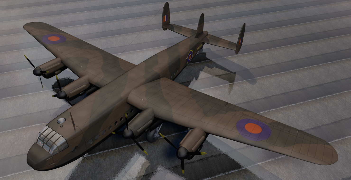 rare avro york mk-1 3d 3ds
