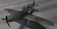 rare boulton paul defiant 3d 3ds