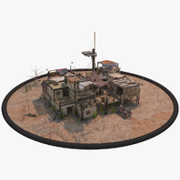 old pueblo house 3d model