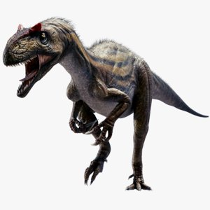 rigged allosaurus obj