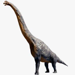 obj brachiosaurus brachiosaur