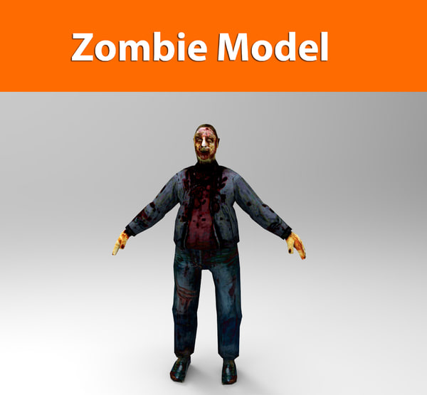 3ds zombie male character