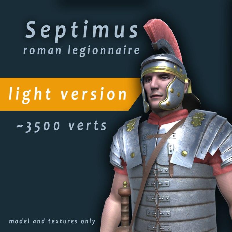 3d roman legionnaire light