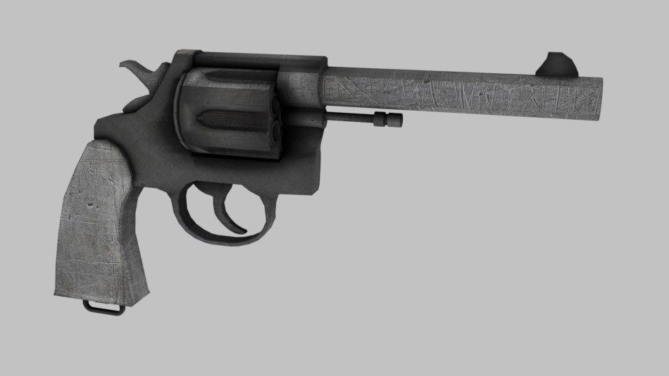 3d revolver colt model