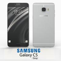 3d samsung galaxy c5 gray model