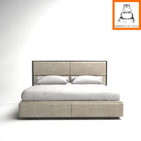groundhog | luxury bed 3d model