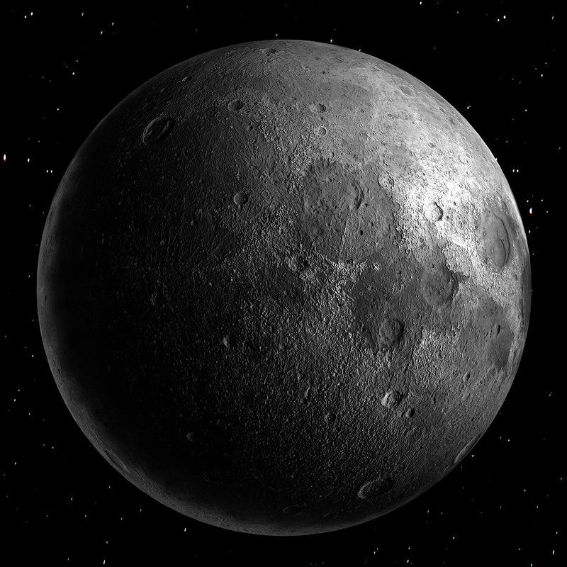 moon nasa stars 3d model