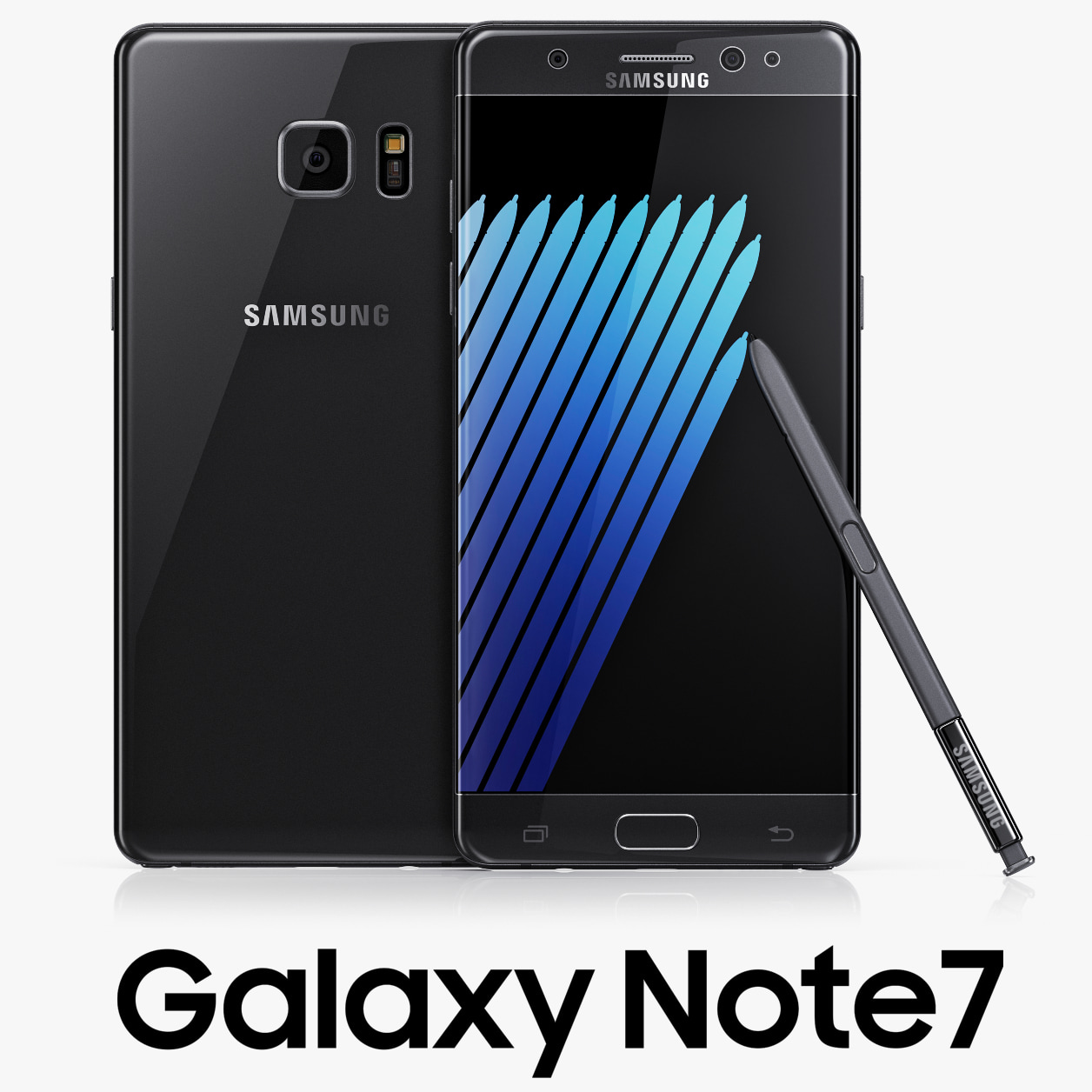 3d model samsung galaxy note7 black