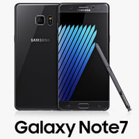 3d model samsung galaxy note7 black