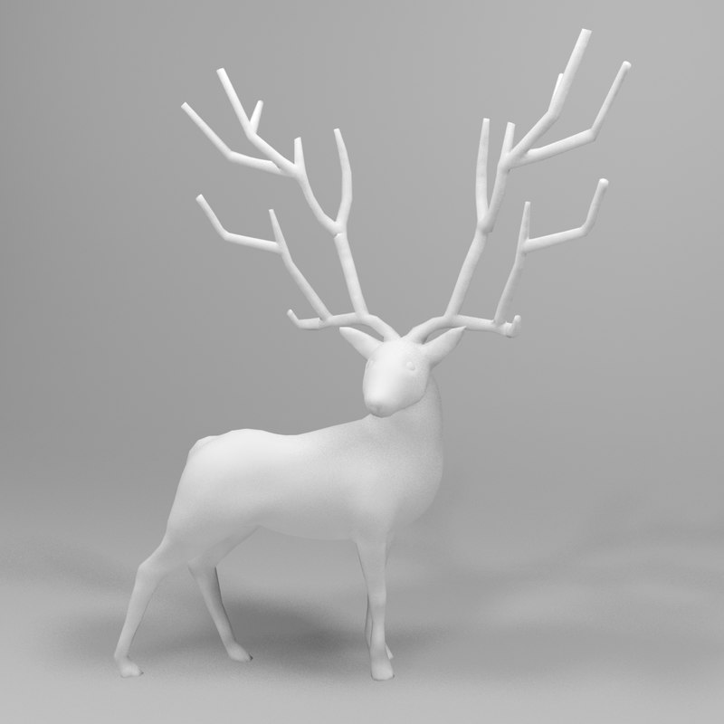 3d model male stag