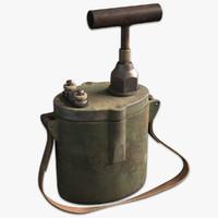3d pm-2 detonator wwii soldier