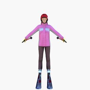 3d model ski boots
