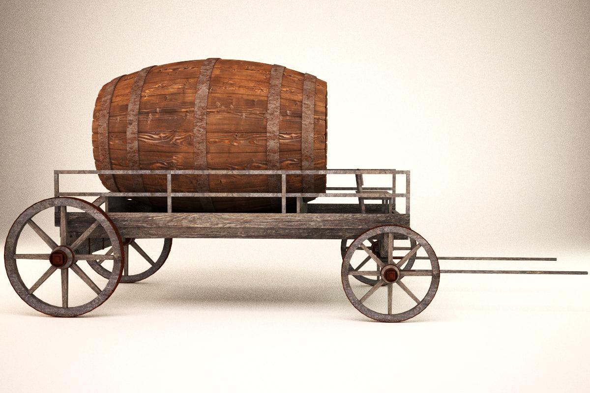 3d max cart barrel