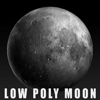 Moon Low poly 3D model