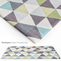 Homespun Green Triangles Rug