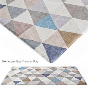 homespun grey triangles rug max