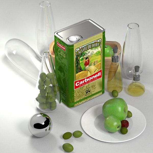 olive oil carbonell tin 3d model