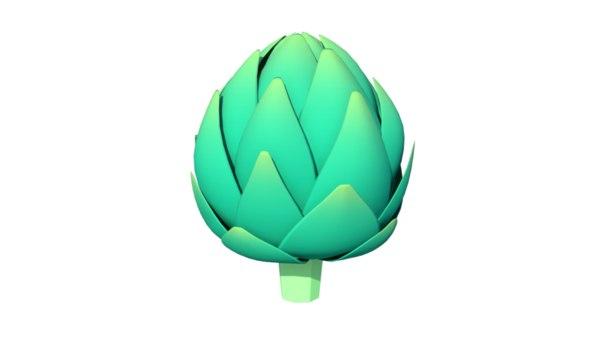3d model of artichoke