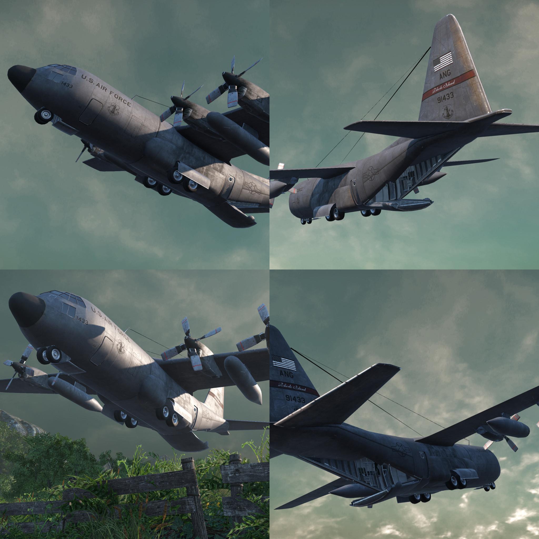 c-130 ready drop 3d obj
