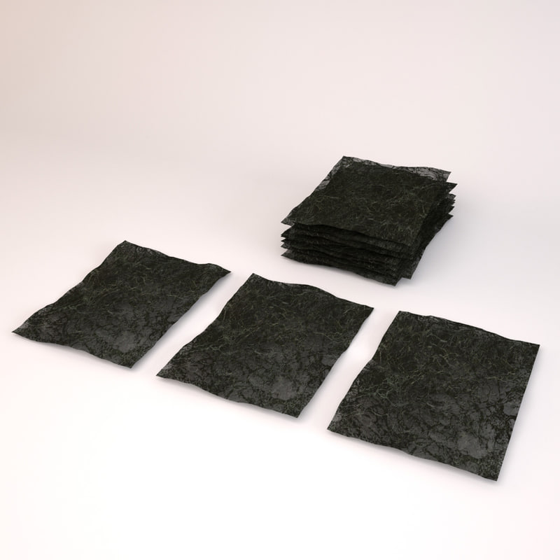 nori roasted seaweed paper 3d max