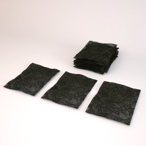 nori roasted seaweed paper 3d max
