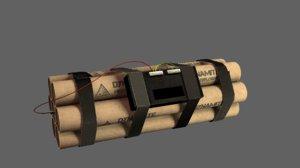 dynamite bomb fbx