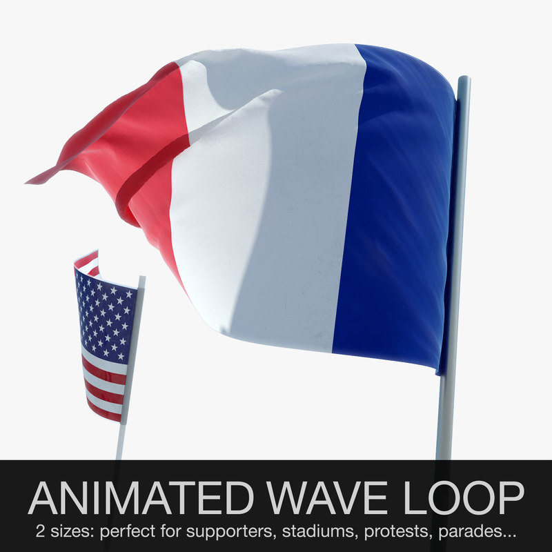 3d waving flag animations