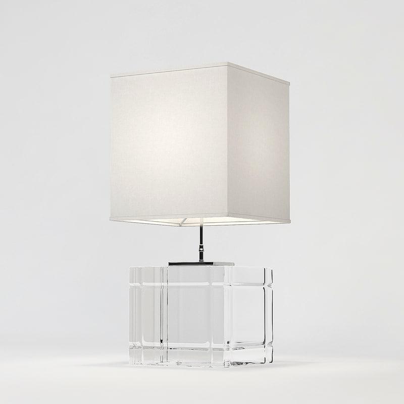 3d eichholtz lamp table academia model