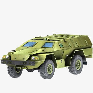 3d model armored vehicle lightly