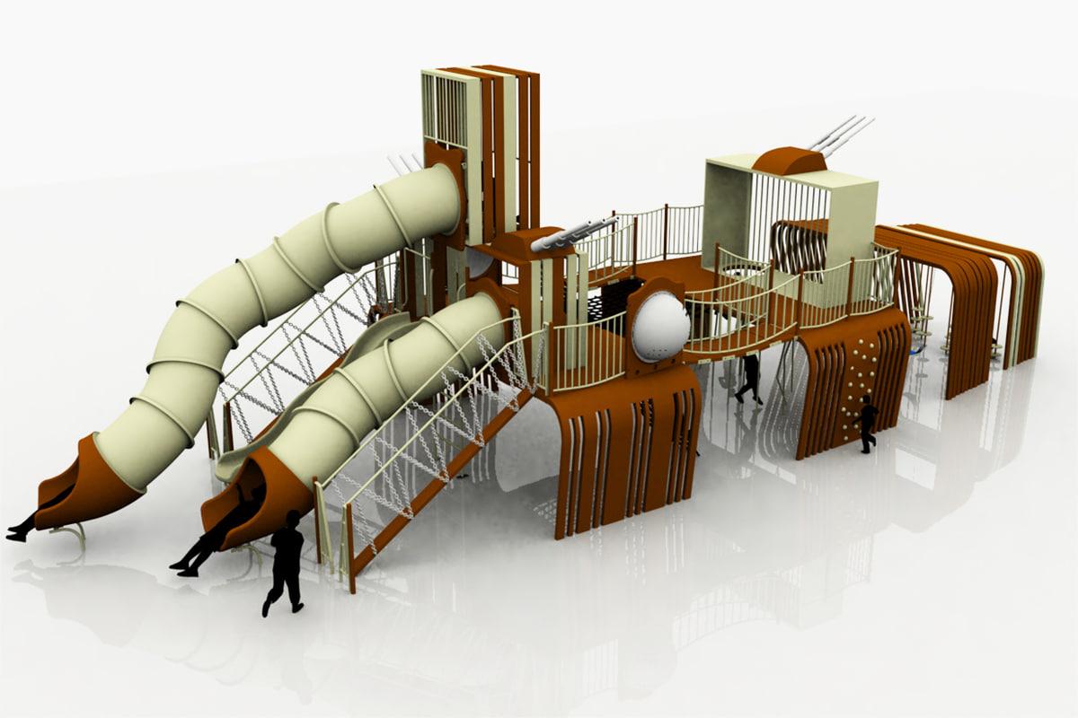 battleship playground kids 3d model