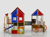 village playground 3d model