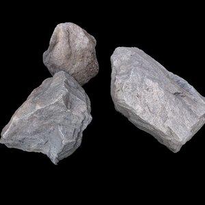 rocks 3d obj
