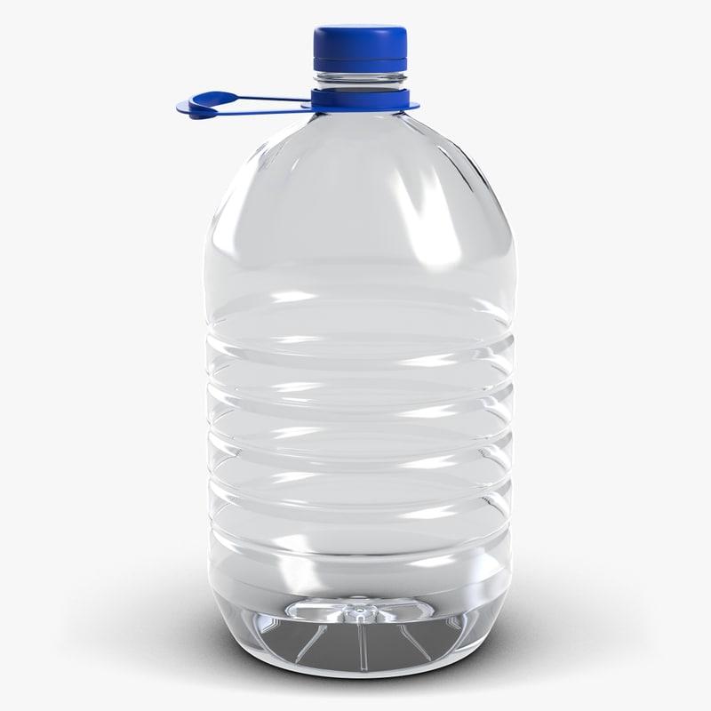 bottle liters 3d model
