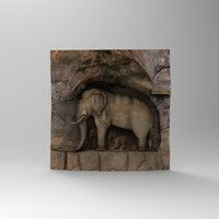 stone elephant statue 3d max