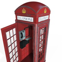 bt red phone box 3d model