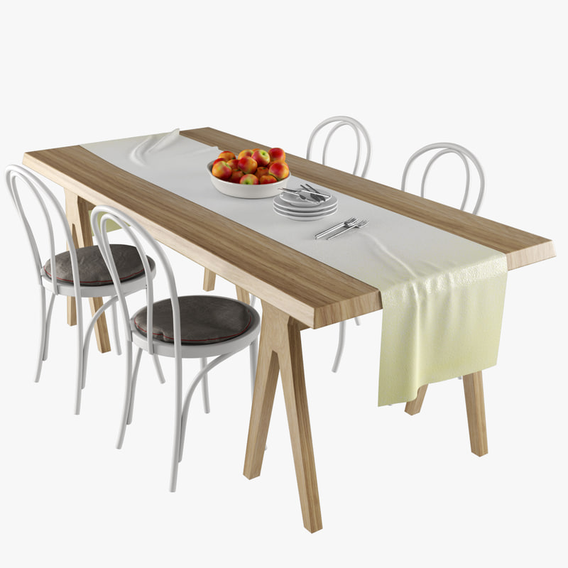 3d model table dining