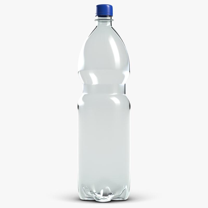 3d model bottle 1 liter