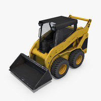 3d c4d skid-steer loader