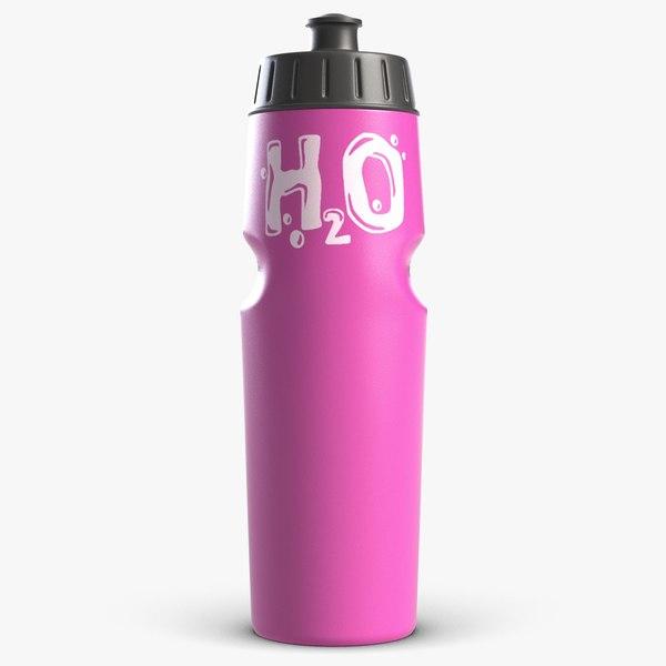 sport water bottle 3 3d model