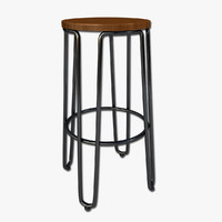 bar stool 3d 3ds