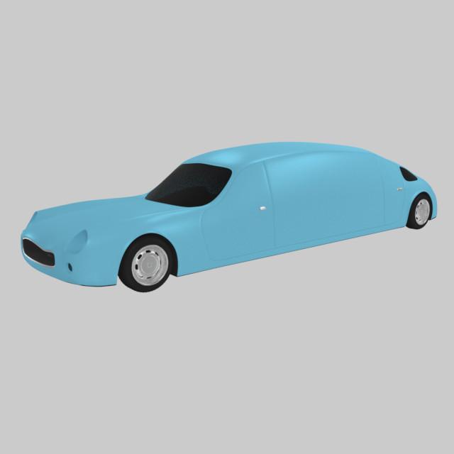 3d limousine car model