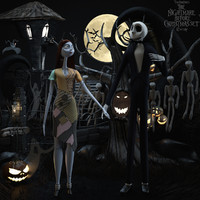 Nightmare before christmas set Sally & Jack