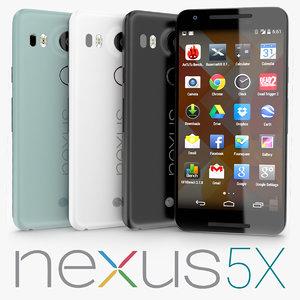 google nexus 5x 3d model